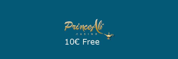 Prince Ali Casino: €/$10 No Deposit Bonus