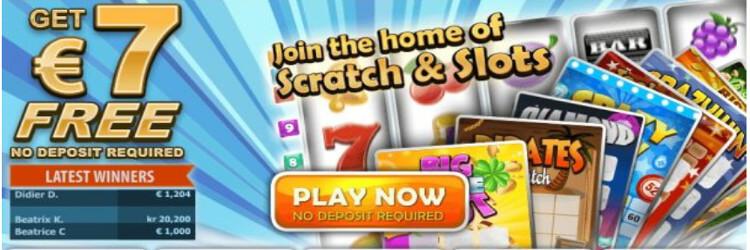 ScratchMania Casino: €/$ 7 Free No Deposit Bonus