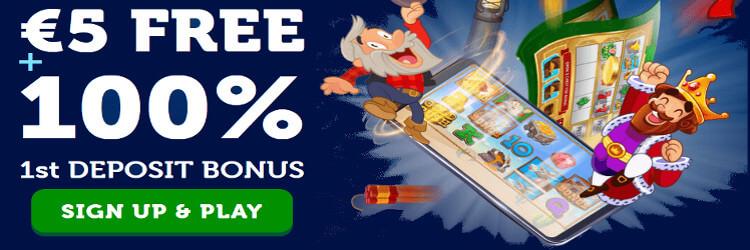 WinsPark Casino: €/$ 5 No Deposit Bonus